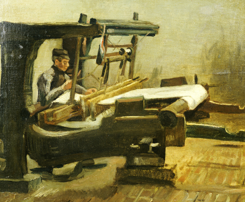 Weaver:The Whole Loom, Facing Right, 1884 by Vincent Van Gogh