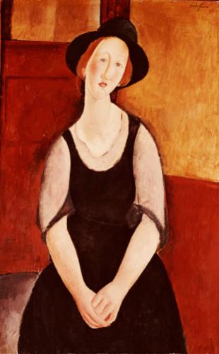 Portrait Of Thora Klinckowstrom by Amedeo Modigliani
