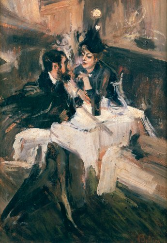 The Sweethearts Lunch, Circa 1895 by Giovanni Boldini