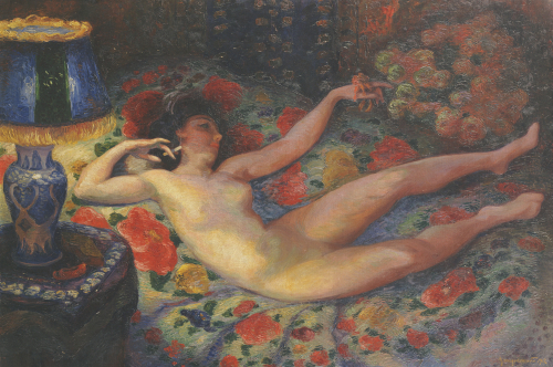 Nude With A Blue Lamp, 1912 by Felix Bracquemond