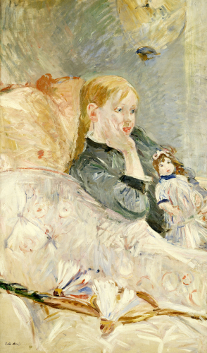 Young Girl With A Puppet, 1896 by Berthe Morisot