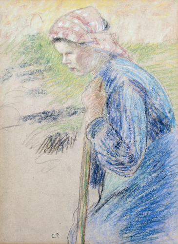 Young Peasant by Camille Pissarro