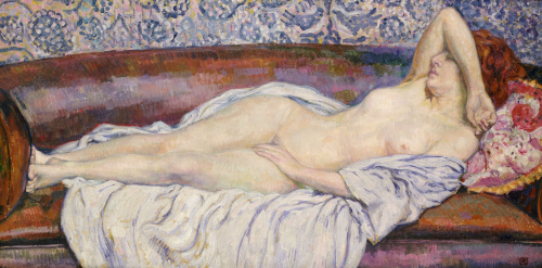 Reclining Nude by Theodore van Rysselberghe