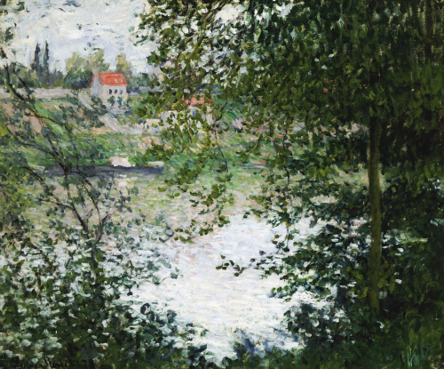 The Island of 'La Grande Jatte', Through The Trees, 1878 by Claude Monet