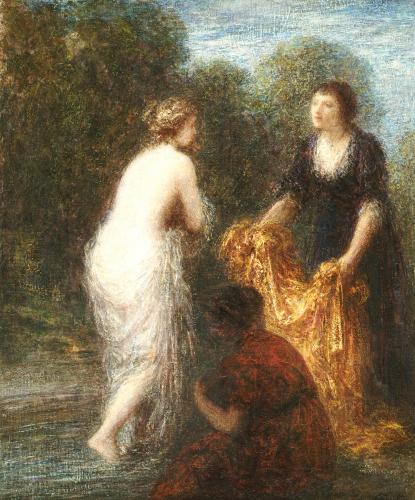 Bath Robe by Ignace-Henri-Théodore Fantin-Latour