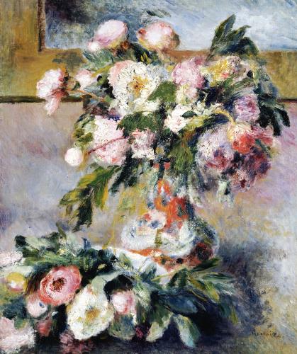 Peonies, 1878 by Pierre Auguste Renoir