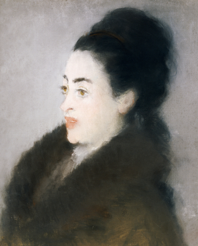 Woman In A Fur Coat In Profile, 1879 by Edouard Manet