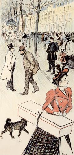 Street Scene from 'Autour Trottoir' by Theophile-Alexandre Steinlen