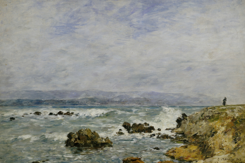 Antibes, La Pointe De L'ilette, 1893 by Eugene Louis Boudin