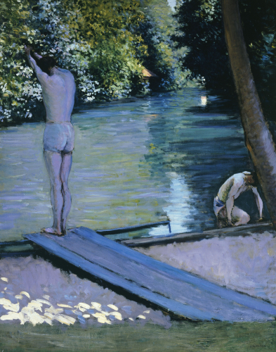 Bather About To Plunge Into The River Lyrres by Gustave Caillebotte