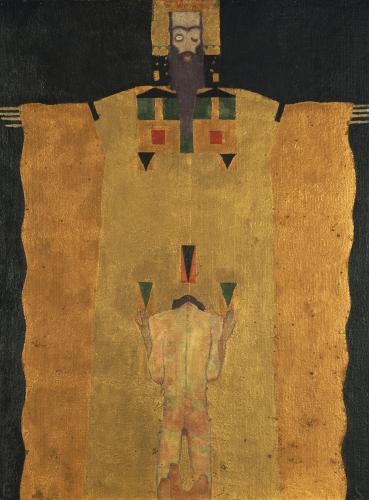 Vor Gottvater Knieender Jungling, 1908 by Egon Schiele