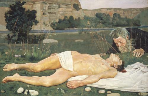 The Good Samaritan, 1886 by Ferdinand Hodler