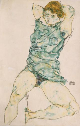 Reclining Girl, 1914 by Egon Schiele