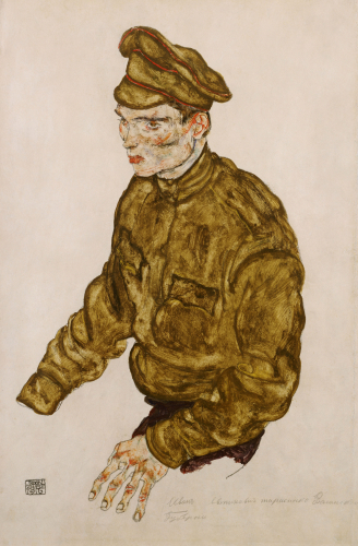 Russian Prisioner Of War, 1916 by Egon Schiele
