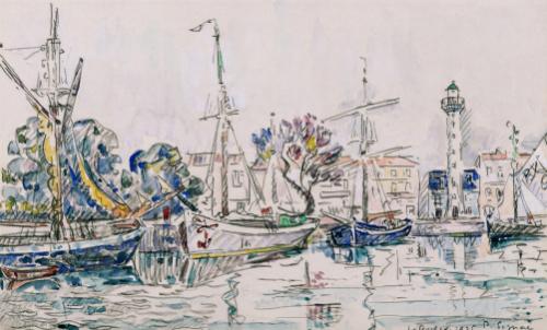 La Rochelle, 1925 by Paul Signac