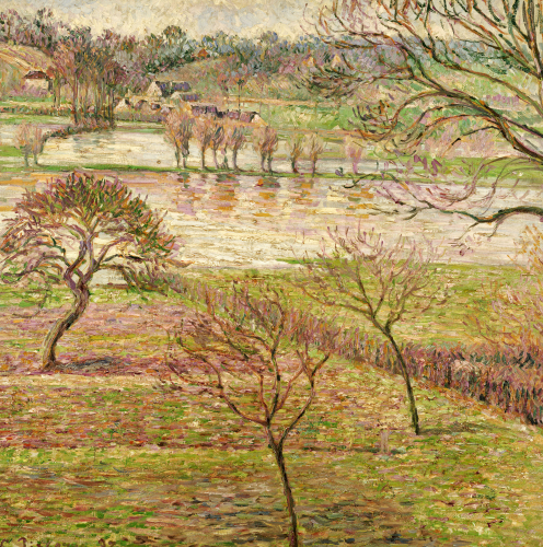 The Flood At Eragny, 1893 by Camille Pissarro