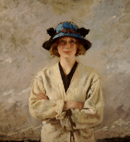 Girl In A Blue Hat, 1912 by Sir William Orpen