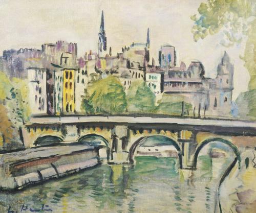 Le Pont Neuf, Paris by Leslie Hunter