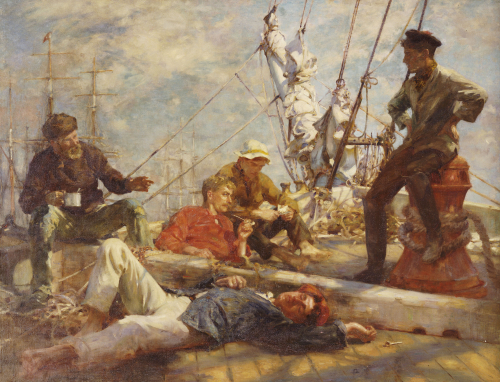 The Midday Rest, 1906 by Henry Scott Tuke