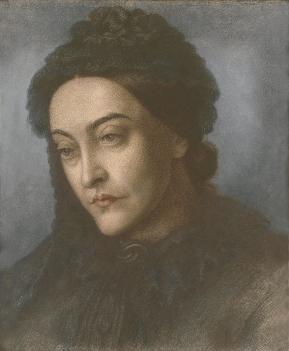 Portrait Of Christina Rossetti by Dante Gabriel Rossetti
