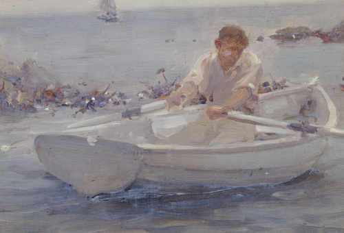 Man In A Rowing Boat, 1907 by Henry Scott Tuke