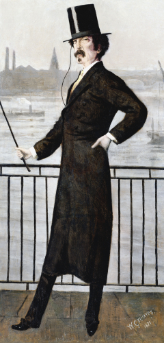 James Abbott McNeill Whistler On The Widow's Walk, 1871 by Walter Greaves