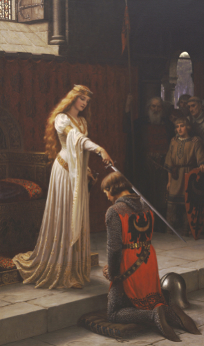 The Accolade by Edmund Blair Leighton