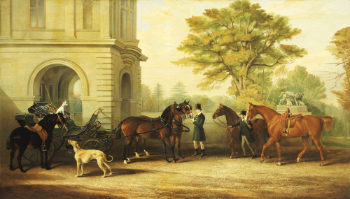 Lady Williams-Wynn's Favourite Phaeton, Ponies, Horses & Dogs, 1865 by Edward Lloyd