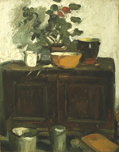 The Kitchen Dresser, Larkhall by Leslie Hunter