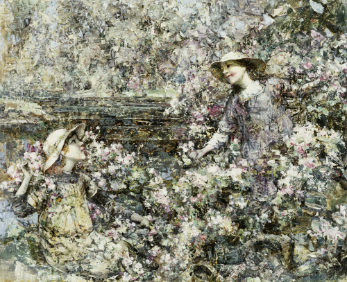 Gathering Blossom, 1916 by Edward Atkinson Hornel