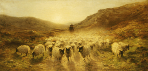 Leaving the Hills, 1874 by Joseph Farquharson