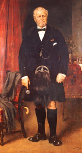 Portrait Of John Brown Full Length At Windsor Castle by Carl Rudolph Sohn