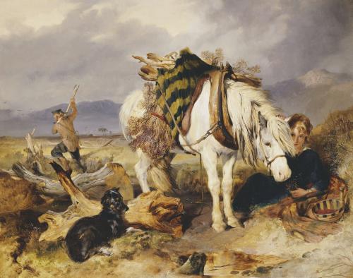 The Wood Cutter by Sir Edwin Henry Landseer