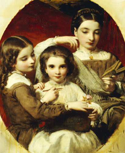 Portrait Of The Russell Sisters, 1858 by James Sant