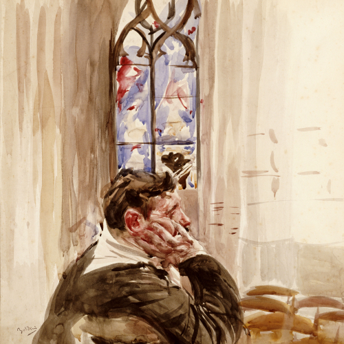 Portrait Of A Man In Church, 1900 by Giovanni Boldini