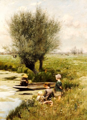 By The Riverside by Emile Claus
