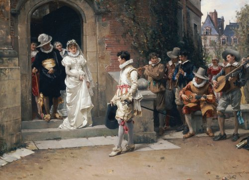 After The Wedding, 1882 by Adrien Moreau