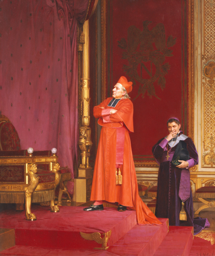 A Cardinal Looking At Napoleon's Throne by Jean Georges Vibert