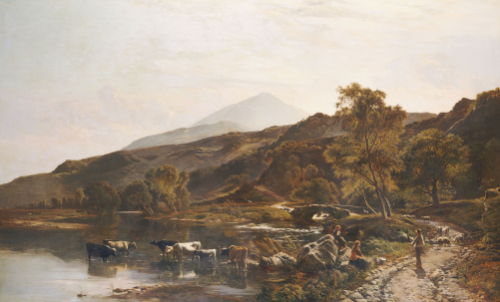 Near Dolgelly, North Wales, 1860 by Sydney Richard Williams Percy