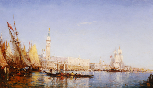 The Grand Canal, Venice by Felix Francois Georges Philibert Ziem