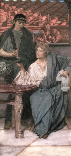 The Roman Wine-Tasters by Sir Lawrence Alma-Tadema