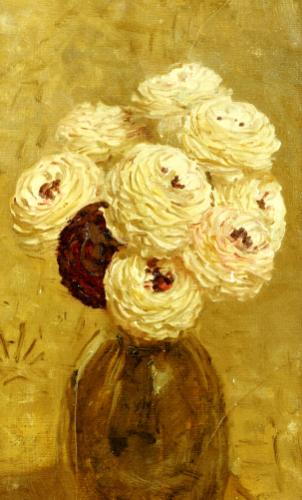 A Vase Of Dahlias by Albert Moore