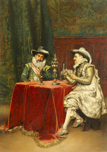 The Trump Card, 1895 by Adolphe Alexandre Lesrel