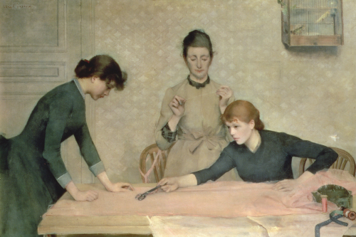 The Sewing Class by Alix Baronne d'Anethan