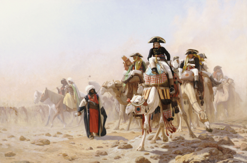 Napoleon And His General Staff In Egypt by Jean-Leon Gerome