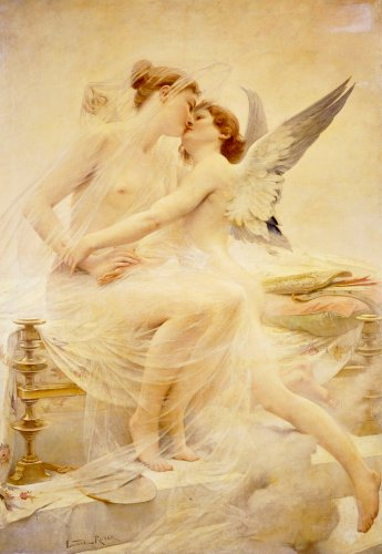 Cupid And Psyche by Lionel Noel Royer
