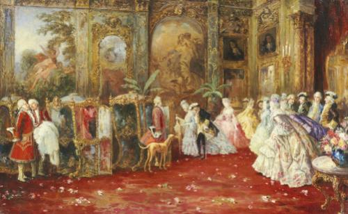 The Awaiting Carriage, 1905 by Salvador Sanchez Barbudo