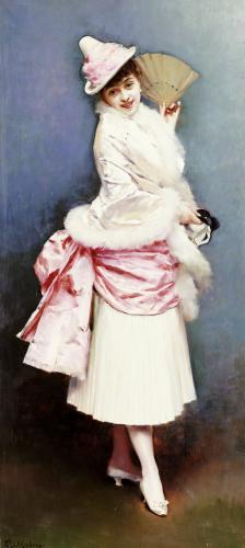 A Portrait Of Aline Masson by Raimundo De Madrazo Y Garreta