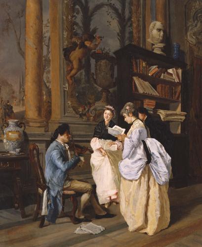 A Musical Interlude, 1872 by Edouardo Navone
