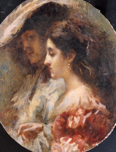 A Double Portrait by Tranquillo Cremona